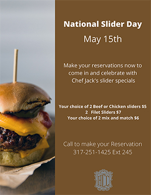 National Slider Day food specials at HillcrestCCIndy
