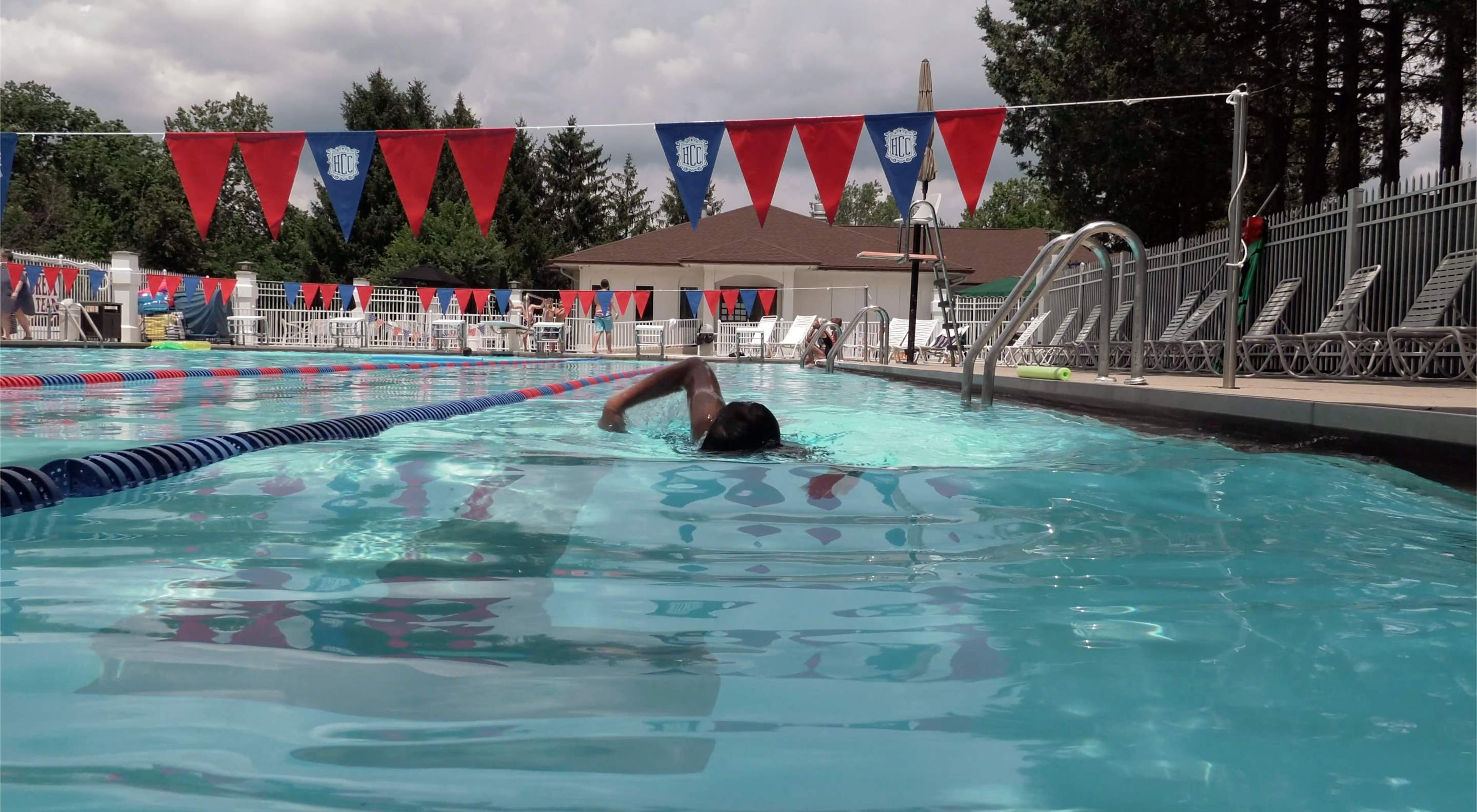 Hillcrest Country Club Indy swimmer + swimming pool photo